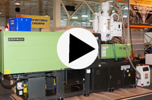 Видео о работе термопластавтомата Cosmos F2